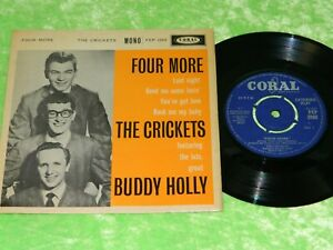 """BUDDY HOLLY & THE CRICKETS : Four more EP - Original 1960 UK 7"""" EP VG/EX 219"""