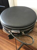 Vintage 50/60's Gray American Tourister Tri-Taper Round Hat Box Hard Travel Case