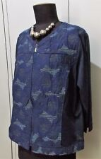 AS NEW Size 16 Motto Navy Blue Poly/Cotton/Spandex Women's Top/Jacket- 53cm Bust