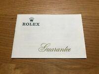Rolex Guarantee WARRANTY 1969' GENUINE  VINTAGE / 0429017