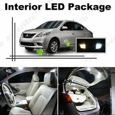 White LED Lights Interior Package Kit for Nissan Versa 2007-2013 ( 6 Pcs )