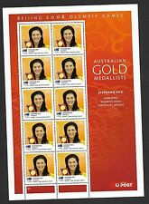 2008 BEIJING OLYMPIC GAMES SHEETLET - STEPHANIE RICE - SWIMMING -10 x 50c STAMPS