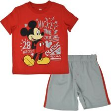 Disney Mickey Mouse Baby Boys T-Shirt and Mesh Shorts Set