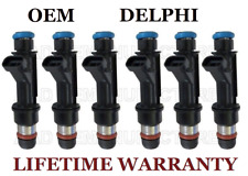Genuine Delphi Set of 6 Fuel Injectors for GMC Chevy Buick Isuzu Saab Hummer