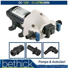 POMPA AUTOCLAVE BARCA E CAMPER - FLOJET TRIPLEX 12V 11 LT/MIN CON PRESSOSTATO