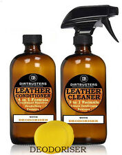 Professional Leather Cleaner 500ml e balsamo 500ML pulisce e deodorises