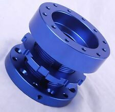 Blue 40-70mm Adjustable Car Steering Wheel Boss Kit Hub Spacer Adapter Momo OMP