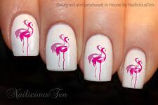 So Beautiful Flamingo Bird Nail Art Wraps Water Transfers 21pcs Decals ST8147