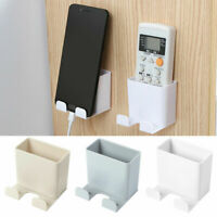 Wall Mounted Storage Case For Remote Control Phone Plug Holder Stand Container