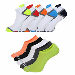 Mens 5 Pack Trainer Liner Socks Invisible Gym Running Cushioned Socks Size 6-11