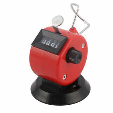 Office Stainless Steel Handheld 4Digit Number Table Desk Tally Click Counter Red
