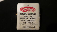 Vintage Advertising METAL CLIP Miller Chemical Company, Sioux Falls South Dakota