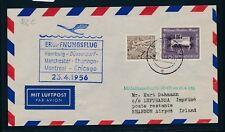 12164) LH FF Hamburg  - Shannon Irland 23.4.56, Brief, selten