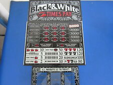 Bally Gaming Inc Black & White 5 Times Pay Slot Machine 3 Piece Glass Set