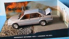 MASERATI BITURBO 425 PERMIS DE TUER 1/43 JAMES BOND 007 UNIVERSAL HOBBIES