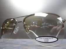 NEW Men or Women CLASSIC VINTAGE RETRO STYLE SUN GLASSES Chrome Frame Clear Lens