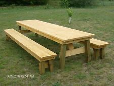Classic Picnic Table with Separate Benches Plan-How to build it yourself!