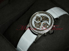 Girard Perregaux S/S 32mm Diamond Bezel Skeleton Dial Chrono 80440D11A711-BK7A