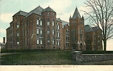 Rochester NY 4-Story Bay Windows, Tower @ St Bernard's Seminary~c1910 Postcard