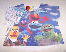 Sesame Street Girls Sublimation Printed Short Sleeve Baggy T Shirt Size 10 New