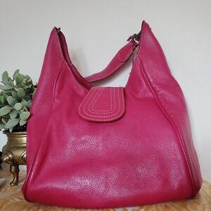 Boden Real Leather Hobo Shoulder Bag Tote Large Handbag Pink