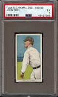 Rare 1909-11 T206 John Frill Sweet Caporal 350-460 New York PSA 5 EX