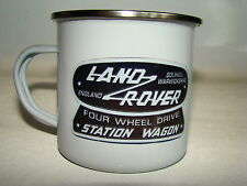 Land Rover Wagon Retro Enamel Mug Land Rover Enthusiast Classic Car Gift Idea