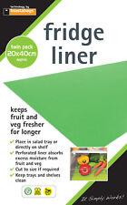 Fridge Liner Tray Mat. Salad, fruit & vegetable stay fresher for longer. 2 pack