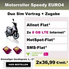 Duo Handyvertrag mit Bundle Zugabe Motorroller Roller Vertrag AllnetFlat 8GB LTE