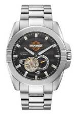 Bulova 76A166 Harley Davidson Automatic Silver Stainless Steel Watch