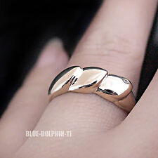 Genuine Real Solid 9K Yellow Gold Engagement Wedding Ring Band Simulated Diamond