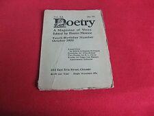 1922 Poetry E.A. Robinson, Kilmer, H.L. Davis, Edwin Ford Piper, Francis Jammes