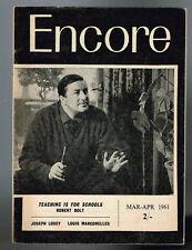 Encore - N° 2 - 1961 - Teaching is for schools Robert Bolt - Joseph Losey - 46 p