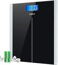Etekcity 400lb/180kg Digital Body Weight Bathroom Scale+Tape Measure 2 Batteries