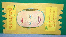 Vintage KOMIK KARD POSTCARD PLAK Comical Post Card - Smile & Grouch 2 Face Card