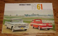 Original 1961 Chevrolet Truck Full Line Sales Brochure 61 Chevy Pickup Corvair