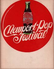 GRATEFUL DEAD / JEFFERSON AIRPLANE 1968 NEWPORT POP FESTIVAL PROGRAM / EX 2 NMT