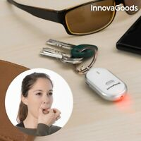 Home New Gadget Tech LED Keychain Beep Sound Activate Button Whistle Key Finder