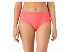 Womens 2X 18W 20W Catalina Full Coverage Bikini Bottom Coral Mid Rise Swimwear