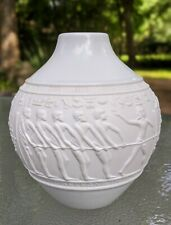 KPM Mid Century Modern EGYPTIAN THEME White Vase Royal Porzellan Bavaria Germany