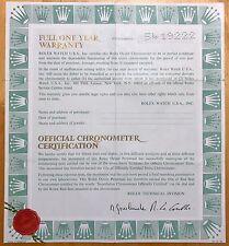 Certificato Rolex Vintage 1977 Sea Dweller 1665 Explorer II 1655 Submariner 1680