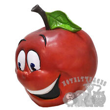 Latex Overhead Red Apple Face Fruit Symbol Love Cartoon Photography Fancy Party