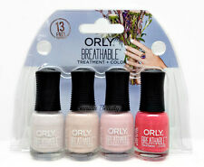 Orly Breathable Treatment Nail Lacquer - MINI Bridal 4pc kits x 0.18oz  #28909