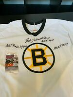 Milt Schmidt Signed Heavily Inscribed Authentic Boston Bruins Jersey JSA COA