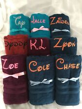 PERSONALIZED TOWEL X-LARGE BEACH TOWEL MACHINE EMBROIDERY NAME GRAD WEDDING