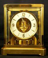LECOULTRE ATMOS PERPETUAL MOTION CLOCK BRASS & GLASS GOOD ALL ORIGINAL CONDITION