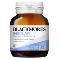Blackmores Insolar 60 Tablets High Dose Vitamin B3 Nicotinamide 500mg Energy