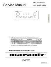 Service Manual-Anleitung für Marantz PM-7200
