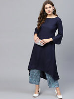 Indian kurta dress With palazzo Top Tunic Set blouse Combo Ethnic Bottom -nk834