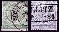 Altdeutschland - Norddeutsche Bund 1868 Mi.: 2-5 Gestempelt Briefmarken